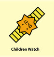 line icon of children watch vector image