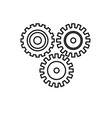 line industry gears to process engineering vector image vector image