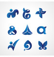 logo template any industry with blue theme vector image vector image