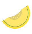 melon flat icon fruit and diet graphics vector image