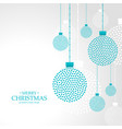 merry christmas hanging balls decoration vector image vector image