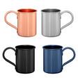 metal mug copper travel cup coffee or tea pot vector image vector image