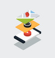 mobile application isometric flat design concept vector image vector image