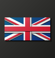 Modern style Great Britain flag vector image