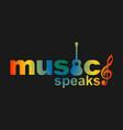 music speaks design tshirt template vector image