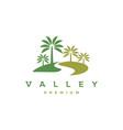 palm valley logo design template vector image vector image