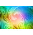 pink green blue glowing spiral background vector image vector image