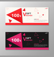 Premium triangle pink red gift voucher templates vector image