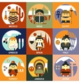 Representatives of Different Nationalities Flat vector image