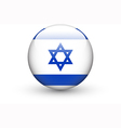 Round icon with national flag of Israel vector image