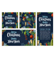 seamless pattern and posters with happy new year vector image vector image