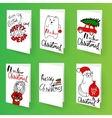 Set of christmas brochures templates Bright vector image