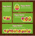 Set of Easter cards and banners vector image vector image