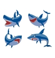 shark character set vector image