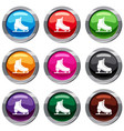 skates set 9 collection vector image vector image