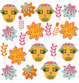 skulls abstract fantasy seamless pattern it is vector image