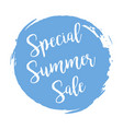 special summers sale grunge style blue colored on vector image