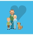 traditional family image vector image