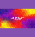 triangle polygonal abstract background colorful vector image vector image
