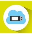 usb cloud technology connection design vector image