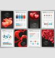 valentines day backgrounds and infographics vector image vector image