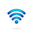 wifi 3d symbol wireless connection icon vector image vector image