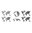 world gray maps map atlas earth topography vector image
