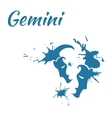 zodiac sign Gemini vector image