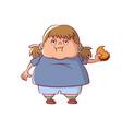 overweight little girl vector image