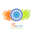 indian 15th august independence day vector image