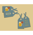 Beer party stickers and labels invitation template vector image