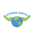 Strong Earth Planet bodybuilder with huge muscles vector image