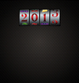 2013 New Year Slot Background vector image vector image