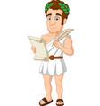ancient greek man cartoon vector image