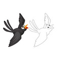 animal doodle for crow vector image vector image