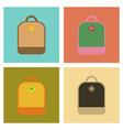 assembly flat icons school bag vector image vector image
