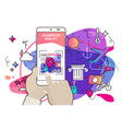 augmented reality amoeba style mobile app concept vector image vector image