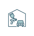 auto body painting concept colored icon vector image