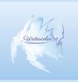 blue watercolor background decoration design vector image vector image