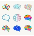 Brain creation and idea icon set vector image vector image