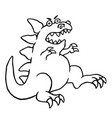 cartoon big angry dinosaur vector image vector image