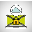 cloud security internet technology vector image vector image