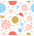 colorful round geometric seamless pattern vector image