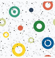 colorful seamless pattern with circles of vector image vector image