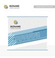 company bill board design with bug logo vector image