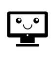 Computer desktop kawaii character