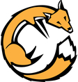 Curled Fox vector image vector image