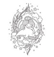 cute little princess mermaid with dolphin vector image vector image
