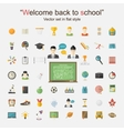 Education icon big set vector image vector image