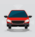 electric self driving car vector image